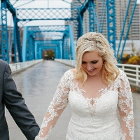 Blue Bridge Wedding Photo
